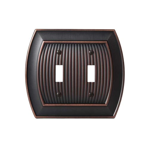 Amerock Allison Two Toggle Wall Plate Oil Rubbed Bronze BP36529ORB