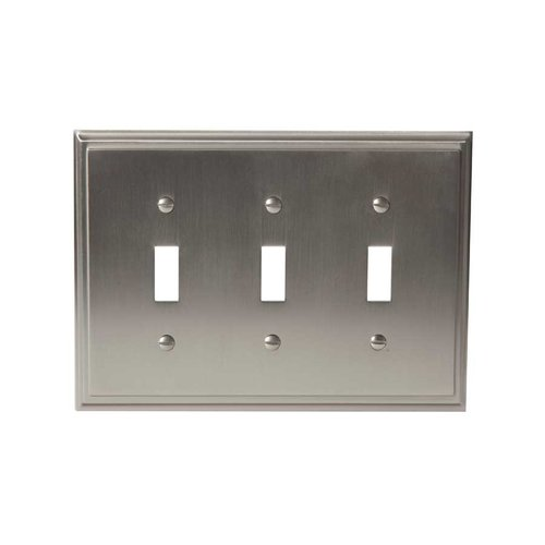 Amerock Mulholland Three Toggle Wall Plate Satin Nickel BP36516G10