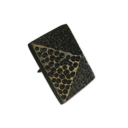 "Gado Gado Large Textured Pyramid Clavo 1-5/8"" Dia - Antique Brass HCL1506"