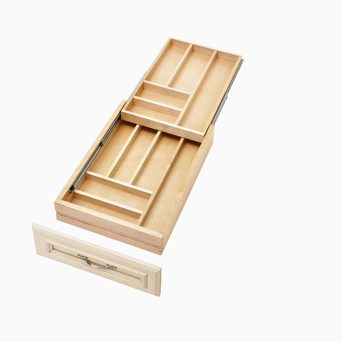 """Rev-A-Shelf 4WTCD Soft Close Double Cutlery Drawer for 18"""" Cabinet 4WTCD-18SC-1"""