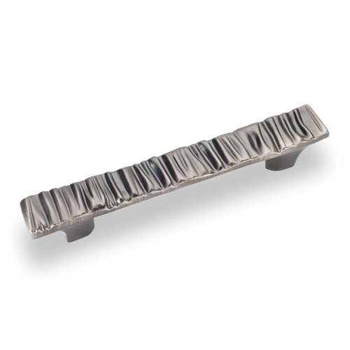 Jeffrey Alexander Valencia 3-3/4 Inch Center to Center Bright Nickel Brushed with Dull Lacquer Cabinet Pull 80509BNBDL