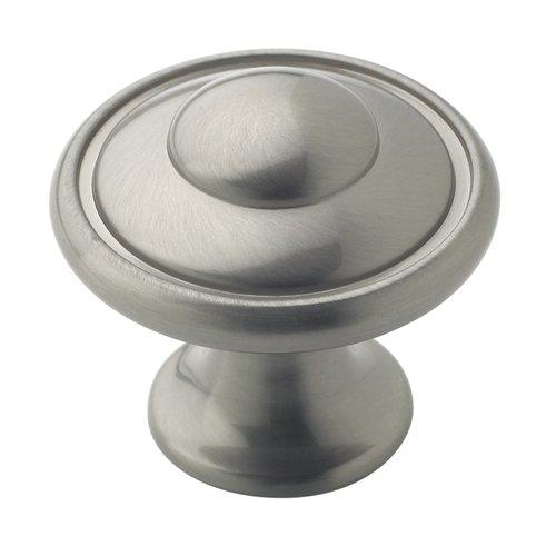 Amerock Allison Value Hardware 1-3/16 Inch Diameter Satin Nickel Cabinet Knob BP53002G10