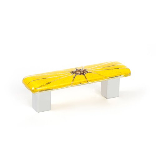 R. Christensen Radiants 2-1/2 Inch Center to Center Yellow Cabinet Pull 9644-1000-C