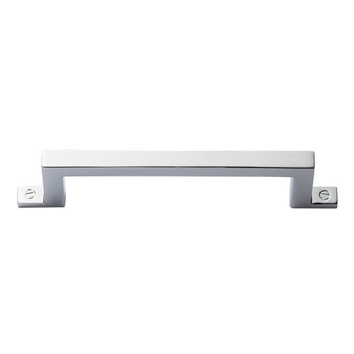 Campaign Bar Pull 3-3/4 inch Center to Center Polished Chrome <small>(#385-CH)</small>
