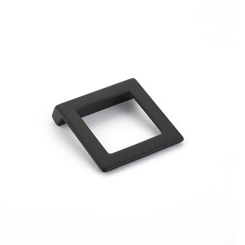 Schaub and Company Finestrino 1-1/4 Inch Center to Center Matte Black Cabinet Pull 450-MB