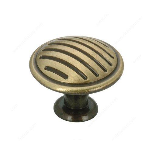 Richelieu Art Deco 1-3/16 Inch Diameter Satin Bronze Cabinet Knob BP16930164