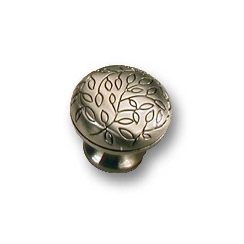 MNG Hardware Vine 1-1/4 Inch Diameter Satin Antique Nickel Cabinet Knob 10221