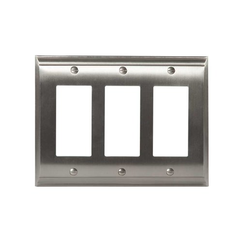 Amerock Candler Three Rocker Wall Plate Satin Nickel BP36506G10