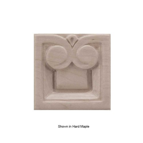 Brown Wood Small Madeline Tile Unfinished Alder 01901018AL1