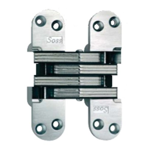 Soss #218 Invisible Spring Closer Hinge Satin Chrome 218ICUS26D