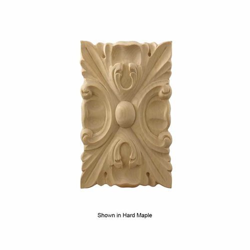 Brown Wood Large Acanthus Tile Unfinished Alder 01902022AL1