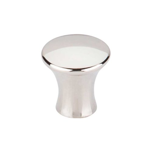 Mercer 7/8 Inch Diameter Polished Nickel Cabinet Knob <small>(#TK590PN)</small>