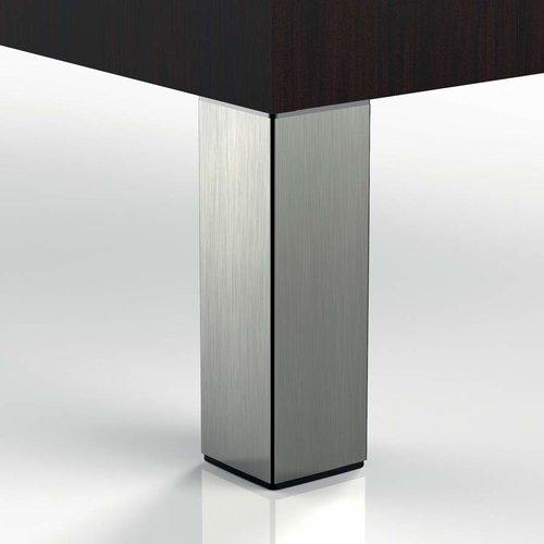 Peter Meier 556 Square Leg Set 4 inch H Brushed Steel 556-10-ST