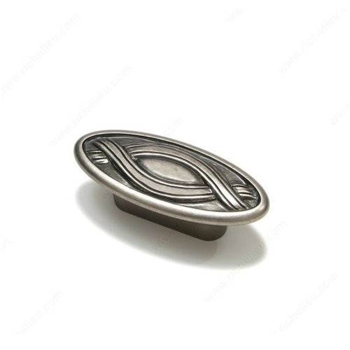 Art Deco 1-1/4 Inch Center to Center Faux Iron Cabinet Pull <small>(#2414732904)</small>