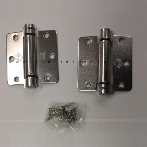 Bommer Industries LB4311-400 1/4 inch Radius Corner Single Act Spring Hinge-Chrome LB4311-400-652