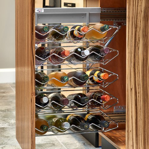 Rev-A-Shelf 5375 Wine Base Organizer with Soft Close Chrome 5375-40WR-1CR