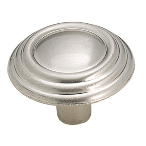 Amerock Sterling Traditions 1-1/4 Inch Diameter Sterling Nickel Cabinet Knob BP1307G9