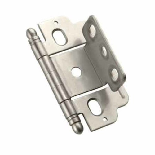 Amerock Full Inset Ball Tip Hinge-Satin Nickel Sold Each PK3180TBG10