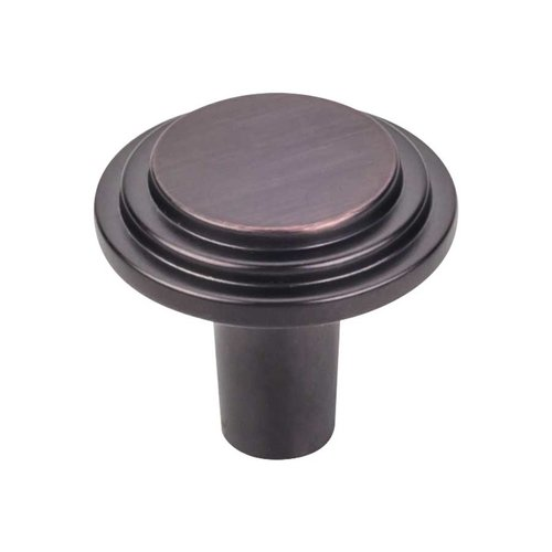 Elements by Hardware Resources Calloway 1-1/8 Inch Diameter Brushed Oil Rubbed Bronze Cabinet Knob 331DBAC