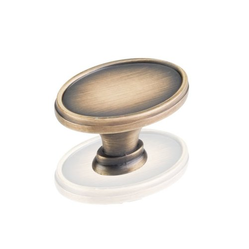 Jeffrey Alexander Regency 1-9/16 Inch Diameter Antique Brushed Satin Brass Cabinet Knob 1099ABSB