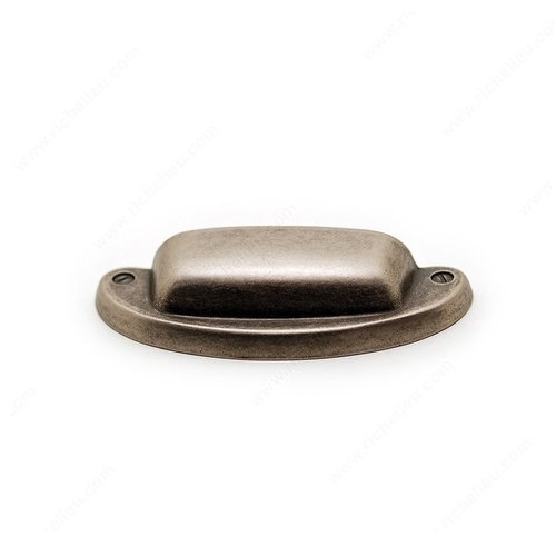 Richelieu Povera 1-1/4 Inch Center to Center Oxidized Brass Cabinet Cup Pull 33232163