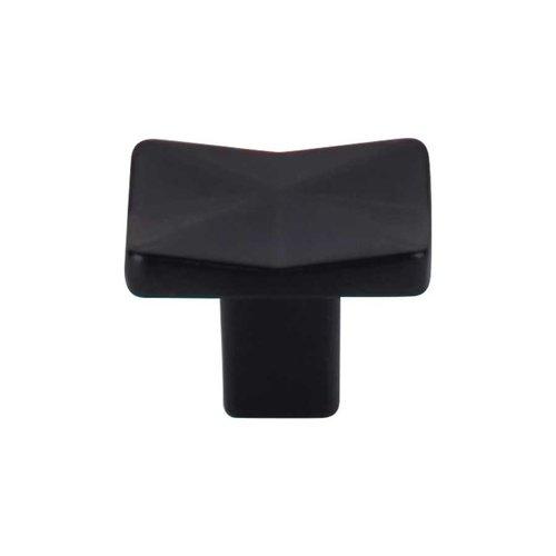 Top Knobs Mercer 1-1/4 Inch Diameter Flat Black Cabinet Knob TK560BLK