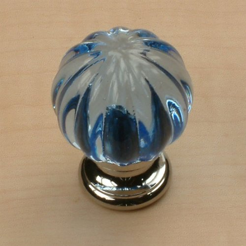 Century Hardware Tahoe 1-1/4 Inch Diameter Sapphire/Polished Chrome Cabinet Knob 18409-26S
