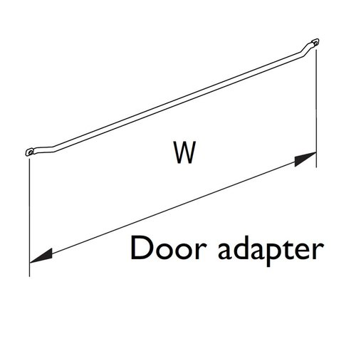"Spice Rack Door Adapter 15-1/4"" W Chrome <small>(#9100 0812)</small>"