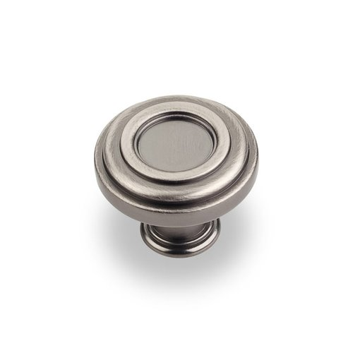 Jeffrey Alexander Lafayette 1-3/8 Inch Diameter Bright Nickel Brushed with Dull Lacquer Cabinet Knob 317BNBDL