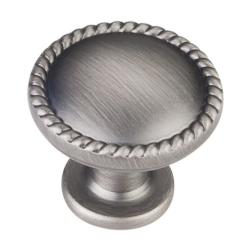 Elements by Hardware Resources Lindos 1-1/4 Inch Diameter Bright Nickel Brushed with Dull Lacquer Cabinet Knob Z115BNBDL