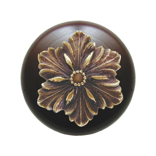 Notting Hill Classic 1-1/2 Inch Diameter Antique Brass Cabinet Knob NHW-725W-AB