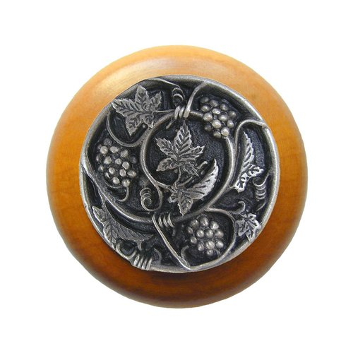 Notting Hill Tuscan 1-1/2 Inch Diameter Antique Pewter Cabinet Knob NHW-729M-AP