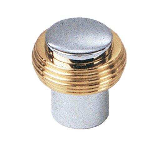 Solid Brass 3/4 Inch Diameter Chrome With Brass Cabinet Knob <small>(#40526)</small>