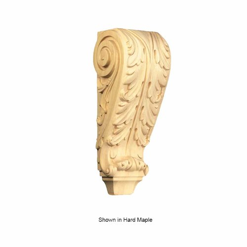 Brown Wood Large Acanthus Corbel Unfinished Paint Grade 01609001PT1