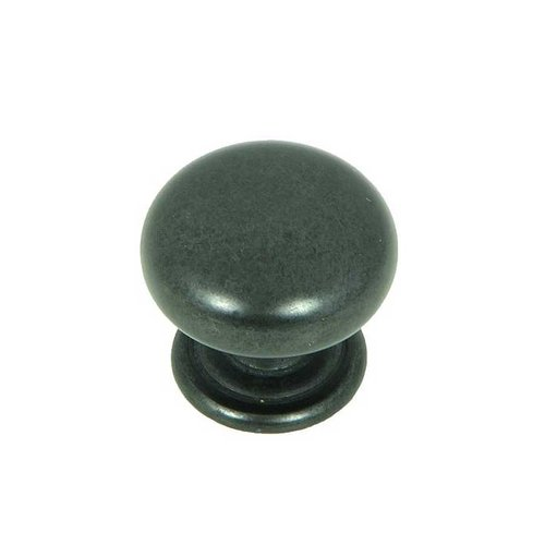 Stone Mill Hardware Princeton 1-1/4 Inch Diameter Antique Black Cabinet Knob CP82980-BA