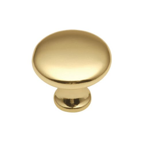 Hickory Hardware Conquest 1-1/8 Inch Diameter Polished Brass Cabinet Knob P14255-3