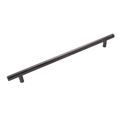 Hickory Hardware Bar Pull Pull 256MM Center to Center Brushed Black Nickel HH075599-BBLN