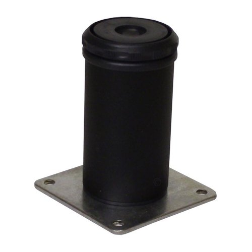 Camar 8 inch Como Leg Plate Mount-Flat Black <small>(#552-20-19)</small>
