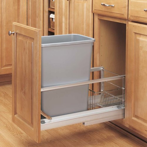 Single Trash Pullout 35 Quart Silver <small>(#5349-15DM-117)</small>