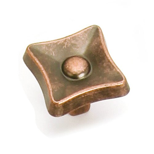 Laurey Hardware Flair 1-1/4 Inch Diameter Antique Copper Cabinet Knob 38607