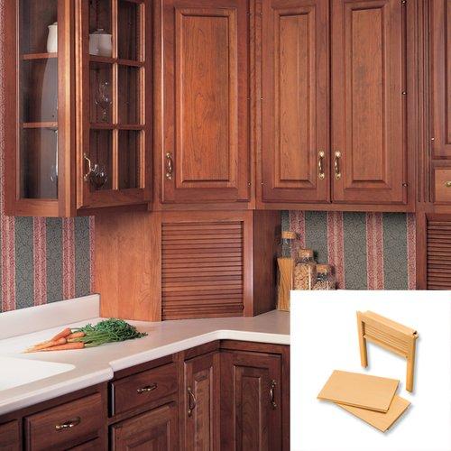 Omega National Products 24 inch Corner Appliance Garage - Maple AG-100CVM