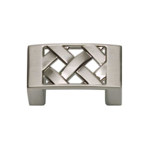 Atlas Homewares Lattice 1-1/4 Inch Center to Center Brushed Nickel Cabinet Pull 309-BRN
