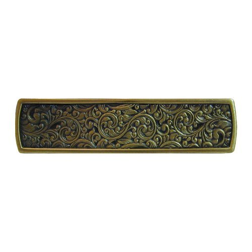 Notting Hill Classic 3 Inch Center to Center Antique Brass Cabinet Pull NHP-659-AB
