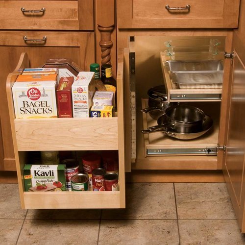 Omega National Products Kitchenmate Blind Corner Caddy-Maple P0650MNL1