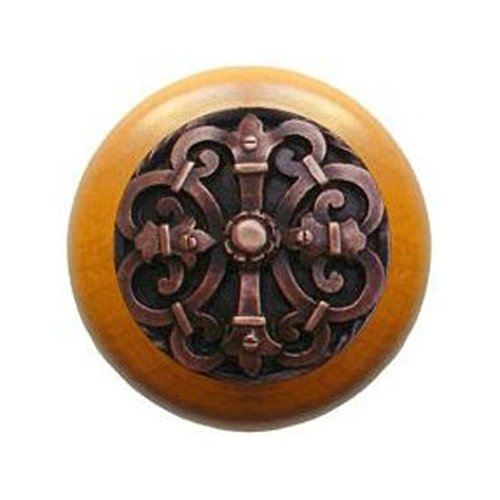 Notting Hill Olde World 1-1/2 Inch Diameter Antique Copper Cabinet Knob NHW-776M-AC