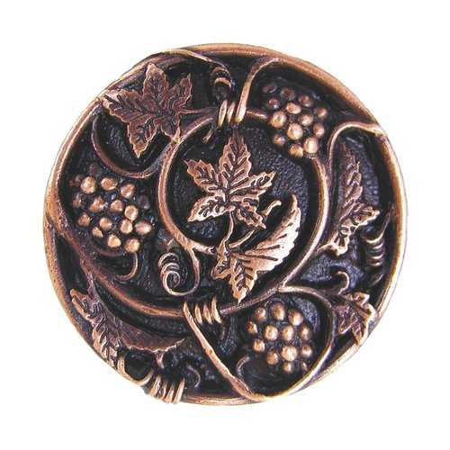Notting Hill Tuscan 1-5/16 Inch Diameter Antique Copper Cabinet Knob NHK-129-AC