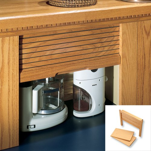 Omega National Products 18 inch Straight Appliance Garage - Maple AG-100SVM-18