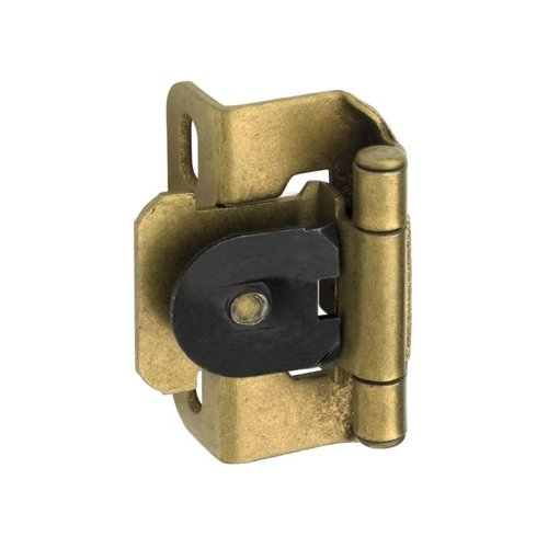 "Single Demountable 1/2"" Overlay Hinge Burnished Brass-Pair <small>(#CM8719BB)</small>"