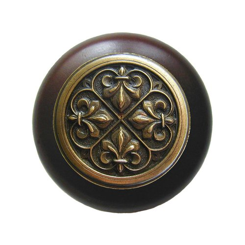 Notting Hill Olde World 1-1/2 Inch Diameter Antique Brass Cabinet Knob NHW-760W-AB