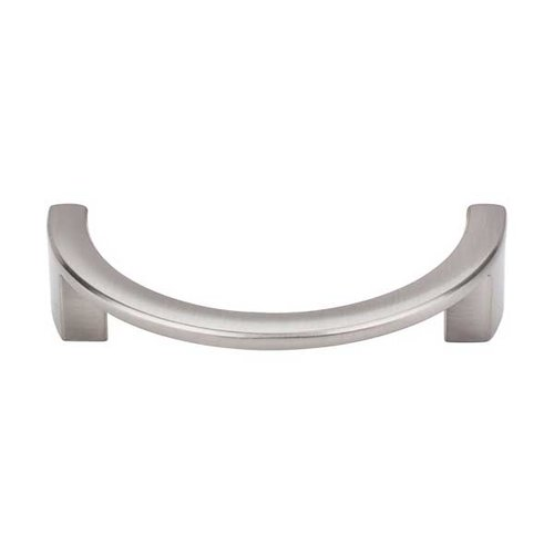 Top Knobs Sanctuary 3-1/2 Inch Center to Center Brushed Satin Nickel Cabinet Pull TK53BSN